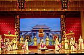 Tang dynasty palace music and dance. Grand Opera House. Xi an city. Shaanxi province. China.