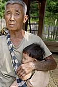 Kamu ethnic group village. Pakbeng area. Laos.