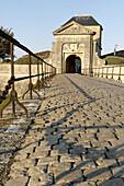 Campani gate. Vauban s fortification (XVIIth century). Saint Martin town. Ré Island. Charente Maritime. France.