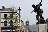 War memorial. The Diamond area. City of Derry. Ulster. Northern Ireland.