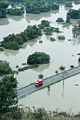 Flood in Devínska Nová Ves, near Bratislava. August, 2002. Slovakia