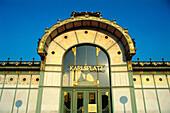 Art nouveau ( Jugendstil ) Karlsplatz subway station, architect Otto Wagner. Vienna. Austria