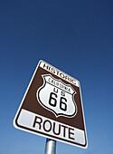 US route 66 sign. California. USA