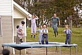 Amish of the American Heartland: Ohio, Indiana, Pennsylvania. Family at market