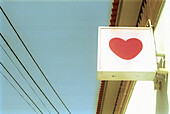 Ceiling love, Color, Colour, Concept, Concepts, Daytime, Detail, Details, Exterior, Heart, Hearts, Horizontal, Love, Outdoor, Outdoors, Outside, Portugal, Retail love, Shop sign, Sign, Signs, Symbol, Symbols, L40-275711, agefotostock