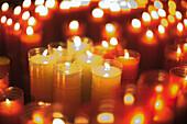 Candles. Sant Joan de Peñagolosa. Castellon province. Spain.