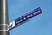 Rock and Roll Blvd. Downtown Cleveland Ohio sightseeing landmarks and tourist attractions