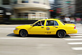 Taxi cabs provide transportation for travelers to Chicago, Illinois. USA.