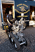 Bomb squads from throughout Michigan conduct training missions in various locations of the state