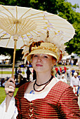 Circa 1700 reenactment of the Colonial period lifestyle in Southeastern Michigan at the Feaste of Sainte Claire Port Huron Michigan