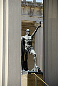 Statue of Lone Warrior Outside Nashville War Memorial Auditorium Nashville Tennessee. USA.
