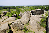 Little Round Top and The Valley of Death at the Gettysburg National Battlefield Park and Cemetary Pennsylvania PA