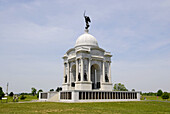 The Pennsylvania Memorial is the largest monument on the Battlefield at the Gettysburg National Battlefield Park and Cemetary Pennsylvania PA