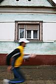 Jogging, Transylvania, Romania