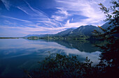 Kochelsee lake in the Bavarian Alpine foothills, Germany, Bavaria, Germany