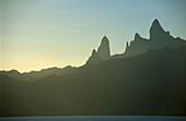 Ua Pou Island with its unique rock spires, French Polynesia