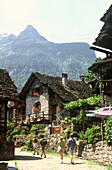Mountain village in the valley of Verzasca, Valle Verzasca, Ticino, Switzerland