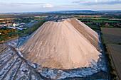 aerial view of potash heap Wunstorf, Hanover, Lower Saxony, northern Germany