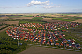 aerial view of housing settlement, in the region Hanover, Lower Saxony, northern Germany