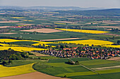 aerial view of villages in Calenberger Land in region Hanover, Lower Saxony, Germany