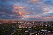 Aerial shot of Hanover, Lower Saxony, Germany