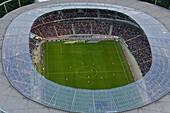 Soccer match in football stadium, Hanover, Lower Saxony, Germany
