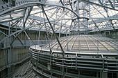 Under the roof above the glass dome is a complex construction, Bank Société Générale, Paris, France, Europe