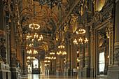 Inside Opera Garnier, Second Empire, ornamental, Paris, France