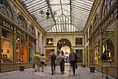 Galerie Vivienne, arcade with glass roof, Empire style, 1826, rue des Petits Champs, rue Vivienne, 1e Arrondissement, Paris, France