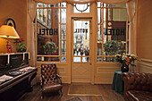 Reception of the Chopin hotel at Passage Jouffroy, 9. Arrondissement, Paris, France, Europe