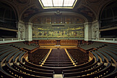 Deserted lecture hall at Sorbonne University, Quartier Latin, Paris, France, Europe