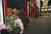 African travellers from Ghana at Gare de Lyon railway station, 12. Arrondissement, Paris, France, Europe