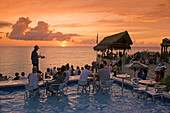 Jamaica Negril Ricks Cafe Open air Pool Bar Viewpoint at Sunset