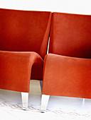 Design, Farbe, Hälfte, Hälften, Innen, Konzept, Konzepte, Leer, Möbel, Mobiliar, Modern, Rot, Stuhl, Stühle, Vertikal, L55-299094, agefotostock