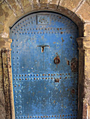 Africa, Blue, Cities, City, Closed, Color, Colour, Concept, Concepts, Daytime, Door, Doors, Doorway, Doorways, Entrance, Entrances, Entries, Entry, Essaouira, Exterior, House, Houses, Mogador, Morocco, North Africa, One, Outdoor, Outdoors, Outside, Travel