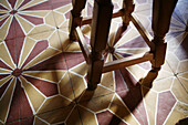 Chair, Chairs, Color, Colour, Decoration, Detail, Details, Floor, Floors, Indoor, Indoors, Interior, Leg, Legs, Object, Objects, Shape, Shapes, Thing, Things, Tile, Tiled, Tiles, L60-529246, agefotostock