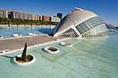 Hemisferic (planetarium and cinema), City of Arts and Sciences by S. Calatrava. Valencia. Comunidad Valenciana, Spain