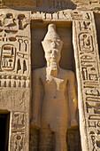Ramsés II statue in Hathor Temple. Abu Simbel. Aswan.Egypt