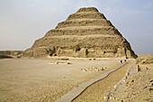 Step pyramid of Djoser at Saqqara necropolis by Imhotep. Egypt