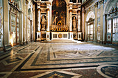 Chapel (Louis XIV). Gilding - white carved stone. Palace of Versailles. France