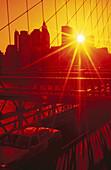 Sunset over Manhattan. New York City, USA