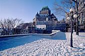 Wintertime in Quebec City. Quebec, Canada