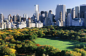 Central Park and buildings in Manhattan, New York City. USA