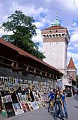 Open air gallery, Florian Gate. Krakow. Poland.