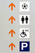 Arrow, Arrows, Ball, Balls, Bathroom, Bathrooms, Color, Colour, Communicate, Communication, Communications, Concept, Concepts, Direction, Disability, Disabled, Figure, Figures, Handicap, Handicapped, Icon, Icons, Parking, Restroom, Restrooms, Sign, Signs,