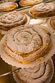 Ensaimada Traditional Pastry, La Mallorquina Pastisseria Confiteria Bakery, Palma, Mallorca, Balearic Islands, Spain