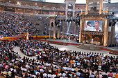 Performance by Dieter Bohlen and Mark Medlock at Wetten, dass... German Television Production, Palma Plaza de Toros Arena, Palma, Mallorca, Balearic Islands, Spain