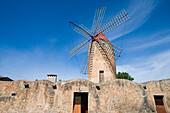 Windmill, Algaida, Mallorca, Balearic Islands, Spain