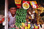Shopkeeper, Kerala backwaters. India