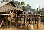 Local family in a Karen village near Chiang Mai, North Thailand, Thailand